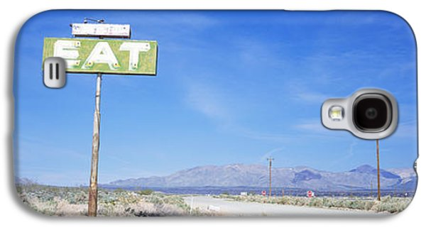 Road Travel Galaxy S4 Cases - Old Diner Sign, Highway 395 Galaxy S4 Case by Panoramic Images
