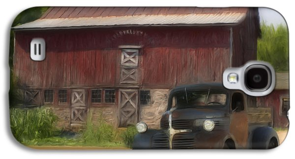 Old Trucks Photographs Galaxy S4 Cases - Old Dodge Truck Galaxy S4 Case by Jack Zulli