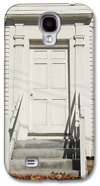 Old Maine Houses Galaxy S4 Cases - Old Door And Steps Close-up Galaxy S4 Case by Keith Webber Jr