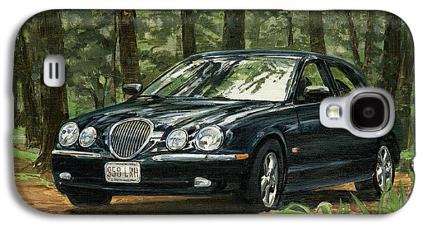 Arkansas Paintings Galaxy S4 Cases - Old Faithful 2000 Jag Galaxy S4 Case by Don  Langeneckert