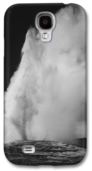 Yellowstone Digital Galaxy S4 Cases - Old Faithful Geyser Yellowstone National Park Wyoming Galaxy S4 Case by Ansel Adams