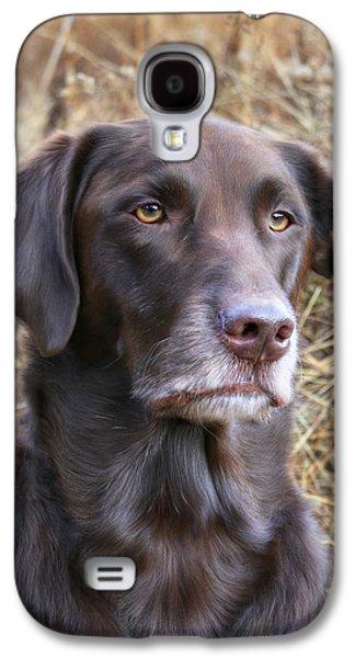Puppies Digital Art Galaxy S4 Cases - Old Faithful Galaxy S4 Case by Lori Deiter