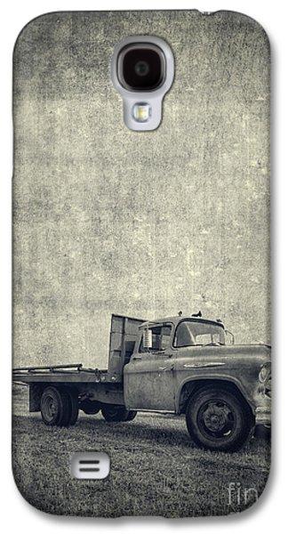 Farm Truck Galaxy S4 Cases - Old Farm Truck Cover Galaxy S4 Case by Edward Fielding