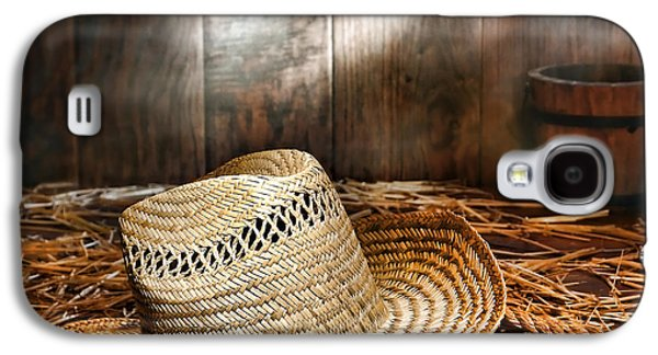 Loose Style Photographs Galaxy S4 Cases - Old Farmer Hat and Rope Galaxy S4 Case by American West Decor By Olivier Le Queinec
