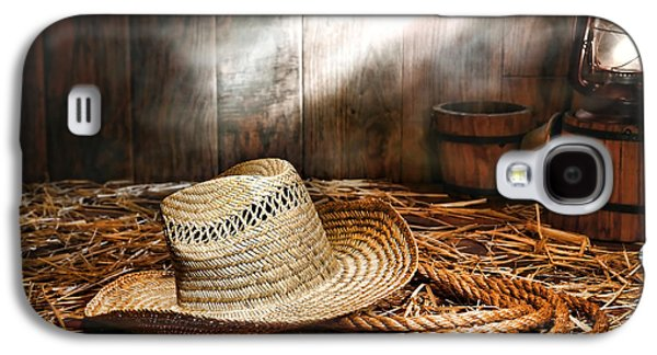 Kerosene Galaxy S4 Cases - Old Farmer Hat and Rope Galaxy S4 Case by Olivier Le Queinec