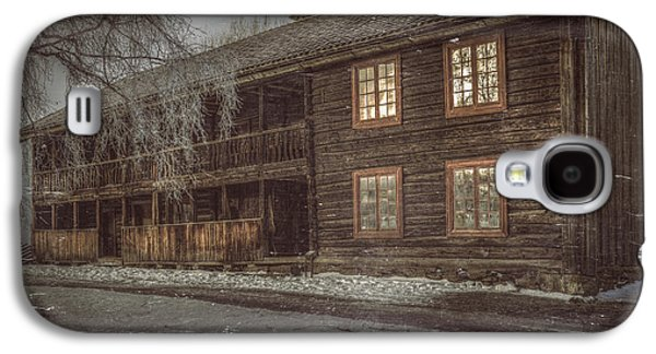 Rural Snow Scenes Galaxy S4 Cases - Old Farmers House Galaxy S4 Case by Erik Brede