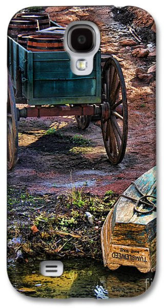 Wooden Wagons Galaxy S4 Cases - Old Fashion Cart And Boat  Galaxy S4 Case by Lee Dos Santos