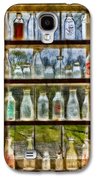 Pint Milk Bottle. Galaxy S4 Cases - Old Fashioned Milk Bottles Galaxy S4 Case by Susan Candelario