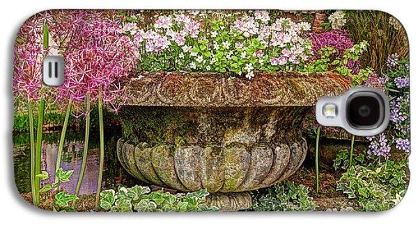 Garden Scene Galaxy S4 Cases - Old Fashioned Planters Galaxy S4 Case by Gill Billington