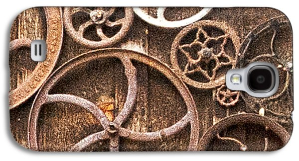 Laura Wrede Galaxy S4 Cases - Old Gears in Genoa Nevada Galaxy S4 Case by Artist and Photographer Laura Wrede