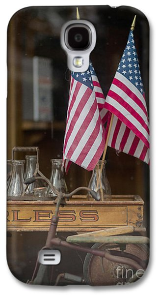 Fourth Of July Galaxy S4 Cases - Old General Store Window Galaxy S4 Case by Edward Fielding