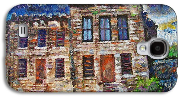 Jail Paintings Galaxy S4 Cases - Old Georgetown Jail Galaxy S4 Case by GretchenArt FineArt
