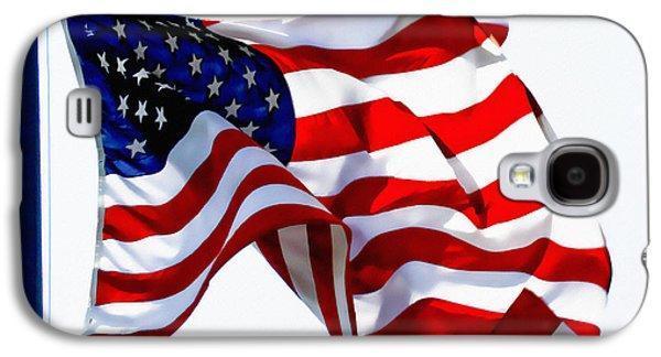 4th July Galaxy S4 Cases - USA Old Glory American Flag Galaxy S4 Case by Carol F Austin