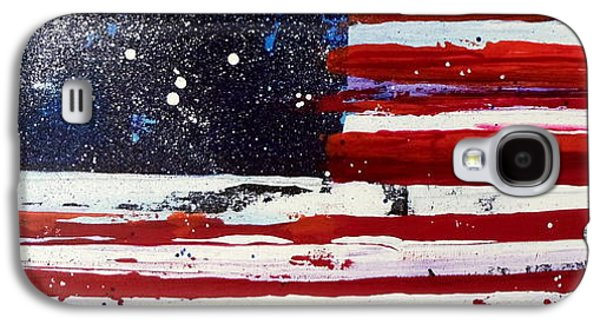 4th July Galaxy S4 Cases - Old Glory Beneath The Stars Galaxy S4 Case by Charles Jos Biviano
