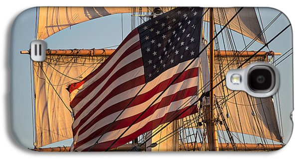 Tall Ship Galaxy S4 Cases - Old Glory Galaxy S4 Case by Peter Tellone
