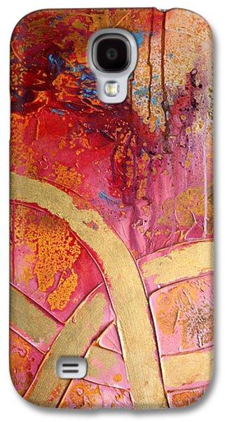 Splashy Mixed Media Galaxy S4 Cases - Old Gold Lanes Galaxy S4 Case by Adam Oriti