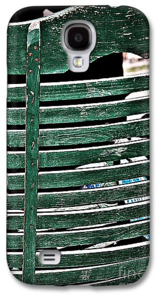 Ladder Back Chairs Galaxy S4 Cases - Old Green Chair Galaxy S4 Case by JW Hanley