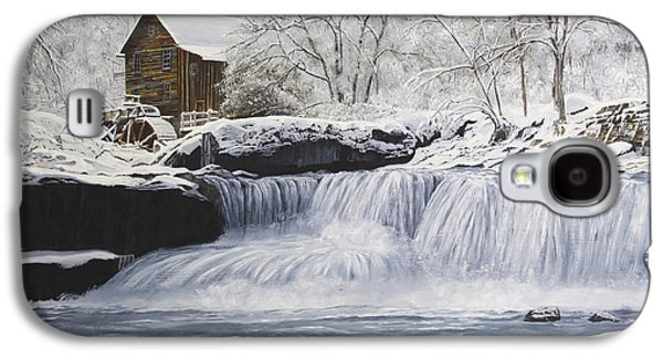 Grist Mill Paintings Galaxy S4 Cases - Old Grist Mill Galaxy S4 Case by Johanna Lerwick