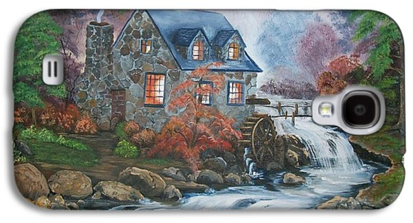 Grist Mill Paintings Galaxy S4 Cases - Old Grist Mill Galaxy S4 Case by Sharon Duguay