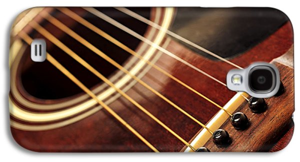 Musical Photographs Galaxy S4 Cases - Old guitar Galaxy S4 Case by Elena Elisseeva