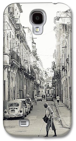 Crutch Galaxy S4 Cases - Old Habana Galaxy S4 Case by Valentino Visentini