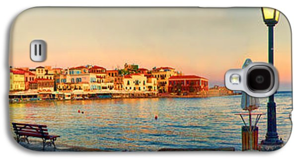 Interface Galaxy S4 Cases - Old Harbour in Chania Crete Greece Galaxy S4 Case by David Smith