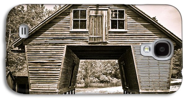Original Photographs Galaxy S4 Cases - Old Corn Crib in Sepia Galaxy S4 Case by Colleen Kammerer
