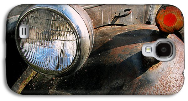 Old Trucks Photographs Galaxy S4 Cases - Old Headlights Galaxy S4 Case by Colleen Kammerer