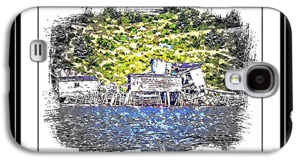 Buildings By The Ocean Galaxy S4 Cases - Old Homestead by the Sea Galaxy S4 Case by Barbara Griffin