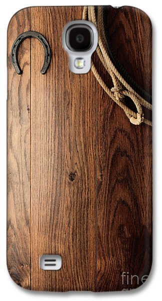 Western Photographs Galaxy S4 Cases - Old Horseshoe and Lariat Galaxy S4 Case by Olivier Le Queinec