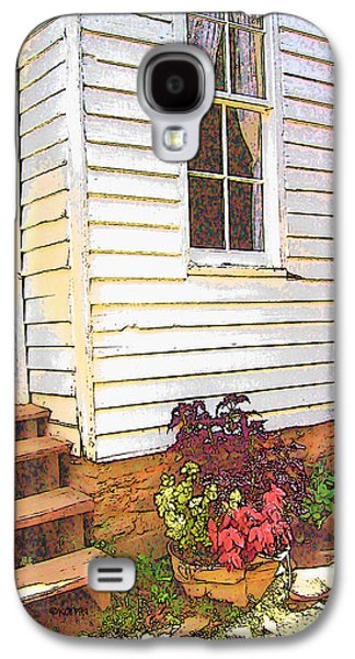 Becky Digital Galaxy S4 Cases - Old House Welcome Flowers Galaxy S4 Case by Rebecca Korpita