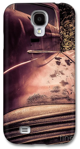 Rusted Cars Galaxy S4 Cases - Old Hudson Car Galaxy S4 Case by Edward Fielding
