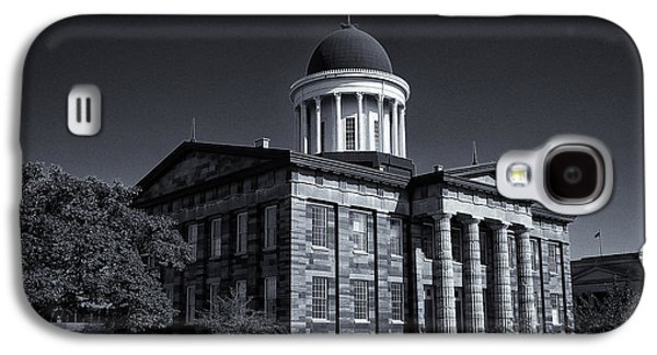 Landmarks Photographs Galaxy S4 Cases - Old Illinois Capitol Building - BW Galaxy S4 Case by Stephen Stookey