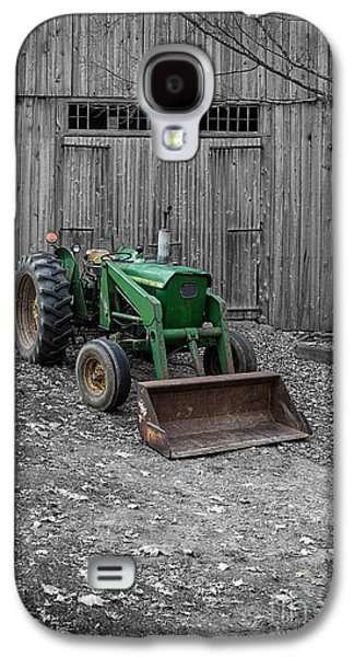 Machinery Galaxy S4 Cases - Old John Deere Tractor Galaxy S4 Case by Edward Fielding