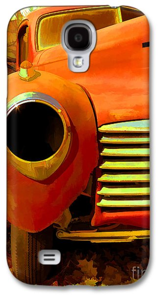 Rusted Cars Galaxy S4 Cases - Old Junker Galaxy S4 Case by Edward Fielding