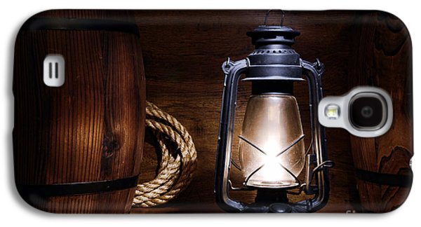 Kerosene Galaxy S4 Cases - Old Kerosene Lantern Galaxy S4 Case by Olivier Le Queinec
