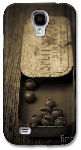 Old Objects Galaxy S4 Cases - Old Lead Fishing Sinkers in Tin Galaxy S4 Case by Edward Fielding