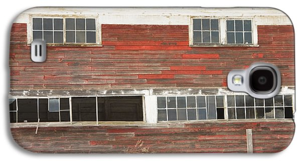 Old Maine Barns Galaxy S4 Cases - Old Maine Barn In Winter Galaxy S4 Case by Keith Webber Jr