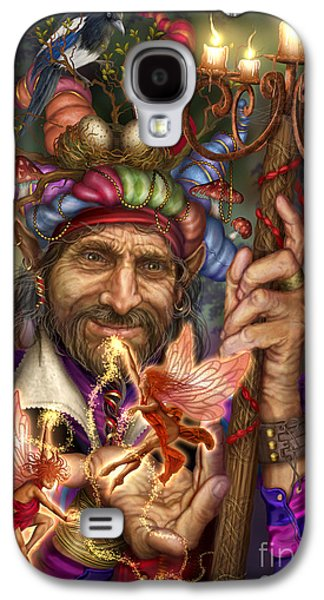 Jester Digital Art Galaxy S4 Cases - Old Man of the Woods Galaxy S4 Case by Ciro Marchetti