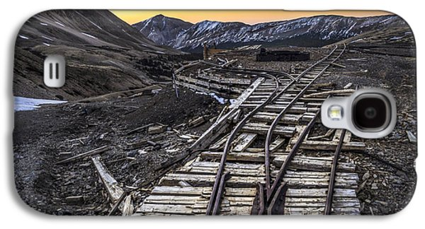 Old Western Photos Galaxy S4 Cases - Old Mining Tracks Galaxy S4 Case by Aaron Spong