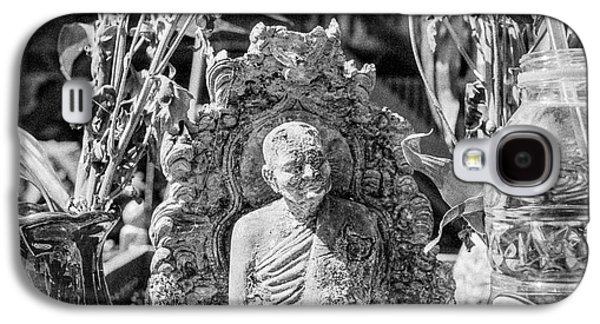 Buddhist Monk Galaxy S4 Cases - Old Monk Statue 2 Galaxy S4 Case by Dean Harte
