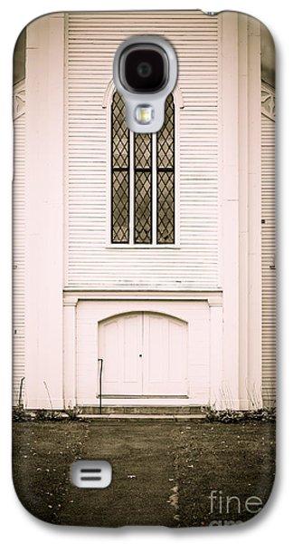 Creepy Galaxy S4 Cases - Old New England Gothic Church Galaxy S4 Case by Edward Fielding
