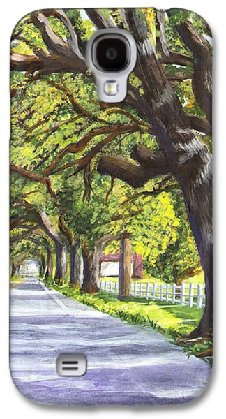 Landscape Acrylic Prints Paintings Galaxy S4 Cases - Old Oak Tree Galaxy S4 Case by Elaine Hodges