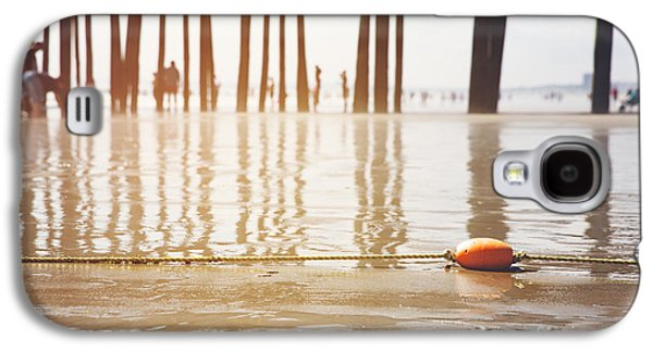 Maine Beach Galaxy S4 Cases - Old Orchard beach Galaxy S4 Case by Jane Rix