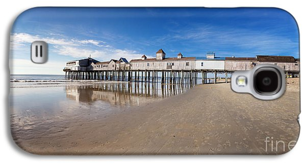 Maine Beach Galaxy S4 Cases - Old Orchard Beach panorama Galaxy S4 Case by Jane Rix