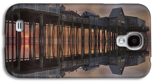 Old Maine Houses Galaxy S4 Cases - Old Orchard Pier Reflection Galaxy S4 Case by Betsy A  Cutler