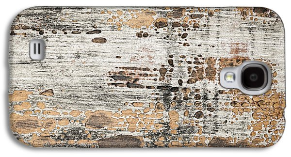 Chip Photographs Galaxy S4 Cases - Old painted wood abstract No.1 Galaxy S4 Case by Elena Elisseeva