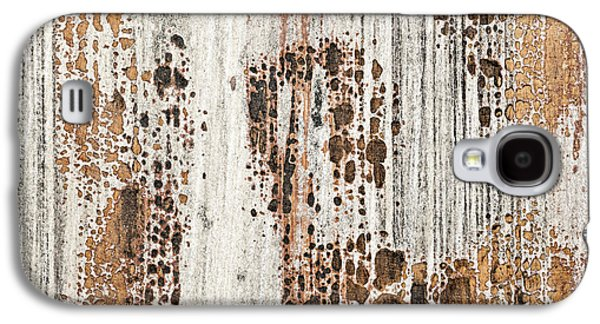 Chip Photographs Galaxy S4 Cases - Old painted wood abstract No.2 Galaxy S4 Case by Elena Elisseeva
