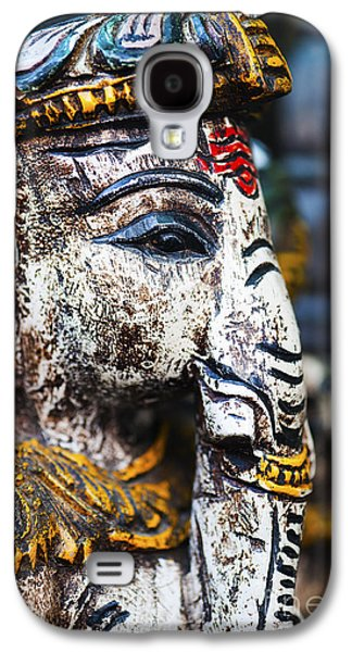 Religious Galaxy S4 Cases - Old Painted wooden Ganesha Galaxy S4 Case by Tim Gainey
