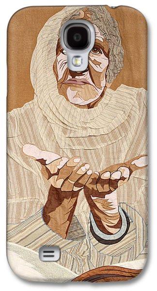 Portraits Tapestries - Textiles Galaxy S4 Cases - Old Pakistani Woman Galaxy S4 Case by Patt Tiemeier